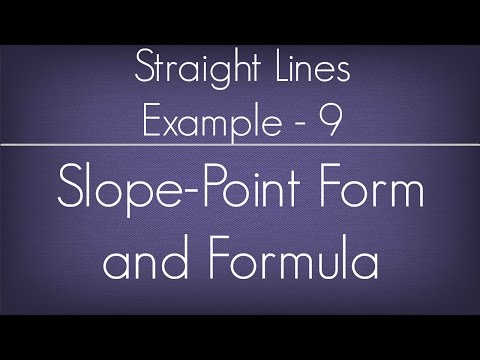Straight Lines Example - 9 l Maths Geometry