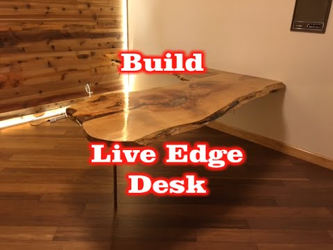 How to Build a Custom Live Edge Wood Office Desk