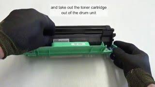 brother HL 1110 laser printer drum cleaning - printer