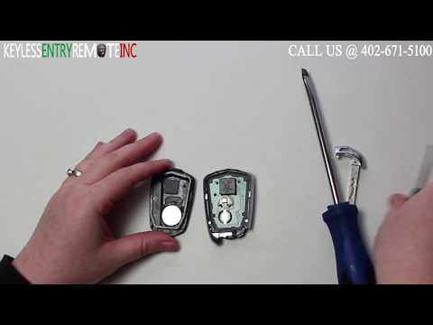How To Replace Cadillac SRX Key Fob Battery 2014 2015