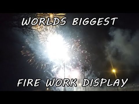 Worlds biggest fire work display!! ( WE NEARLY BLEW UP!! )