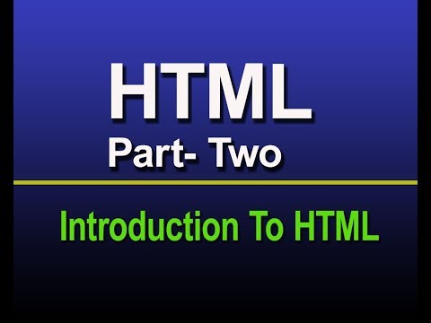 HTML for beginner part- two : Introduction to HTML