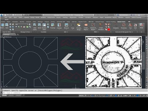 How to Clean and convert Scanned image plan Into AutoCAD Drawings File