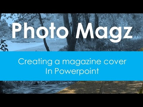 How to create a magazine or book cover in powerpoint #2 | simple Photo magz