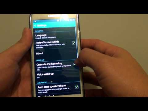 Samsung Galaxy S5: How to Enable/Disable Home Key to Open S Voice