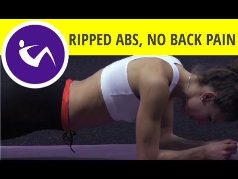 Workout with static planks - get ripped six pack abs without lower back pain