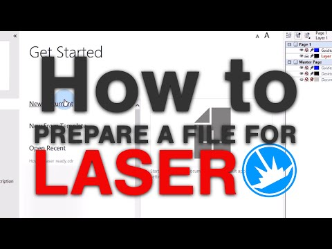 How to prepare a file for laser