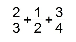 Suma De 3 Fracciones Con Diferente Denominador