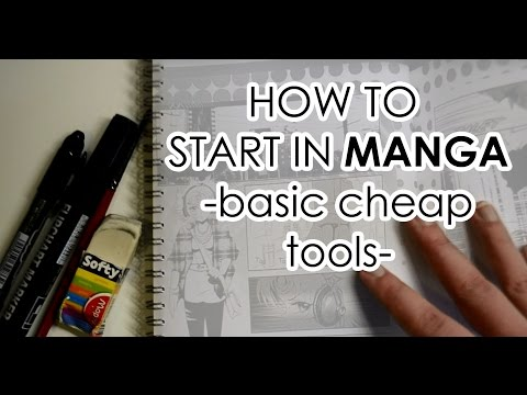 How To Start in Manga with Basic Cheap Tools