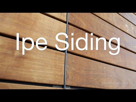 Ipe Wood Siding - Open Joint Rain Screen w Delta Fassade S