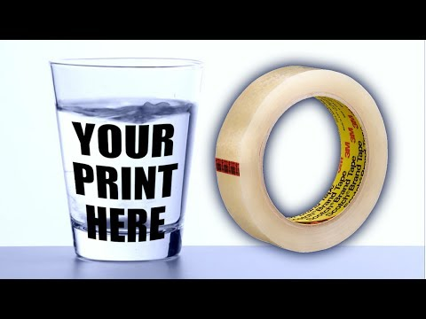 PRINT ON GLASS with Amazing Sticky Tape Life Hack