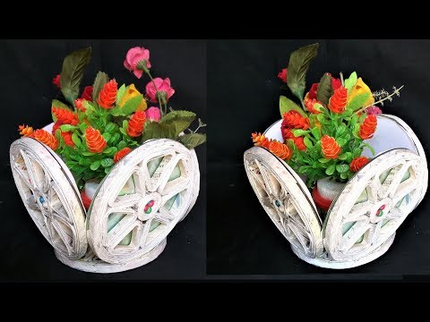 Fruit and Flower Basket | Newspaper Craft | Best Out Of Waste