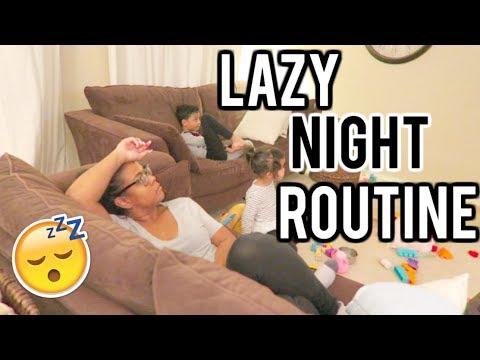 My Lazy Night Routine! Single mom edition