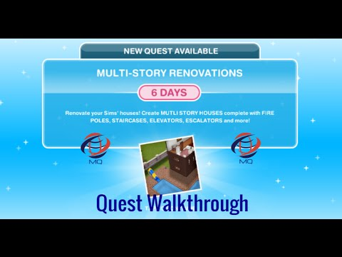 The Sims FreePlay - Multi-Story Renovations Quest Walkthrough