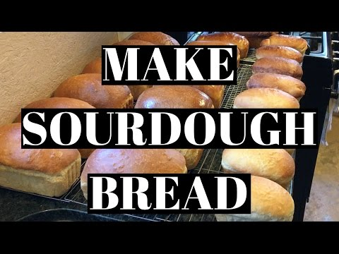 How to Make Sourdough Bread | Loaves, Bread Sticks, and Basil Bread