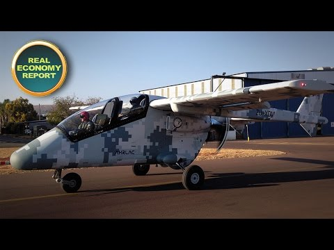 South Africa's latest aircraft design makes its first public flight