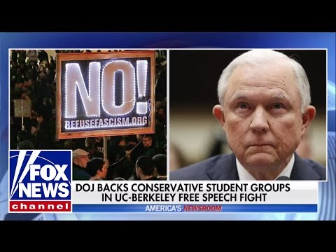 DOJ backs UC Berkeley conservatives in free speech fight