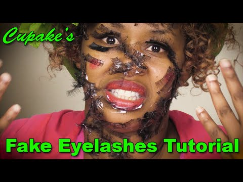 Cupcake's How to Put on Fake Eyelashes Tutorial - Glozell