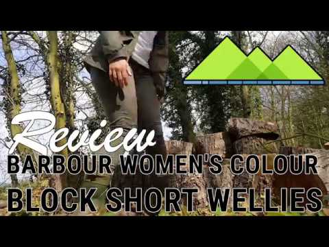 Barbour Women's Colour Block Short Wellies Review