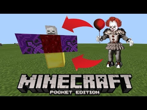 How To Make a Pennywise Spawner in Minecraft Pocket Edition