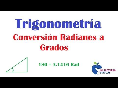 Conversion Radianes a Grados -  Ejercicio 2 - Conversion Radians to Degrees
