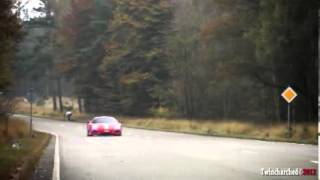 3x Ferrari 360 Challenge Stradale - Incredible sounds Of Acceleration & Start- Up