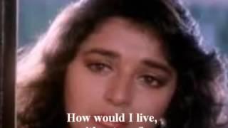 'Jiye To Jiye Kaise' Full Song  Movie  SAAJAN 1991 English Subtitles