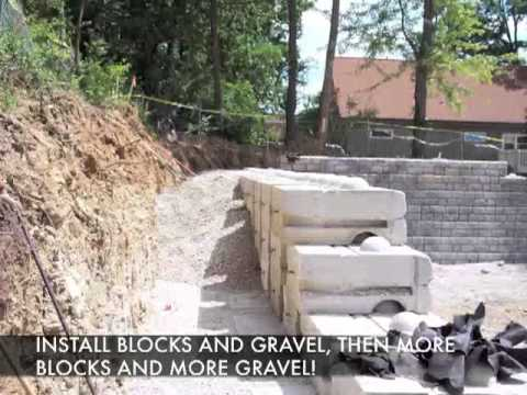 Retaining Walls - How to Build a Redi-Rock Gravity Wall