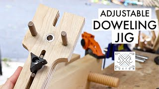 Making an ADJUSTABLE Doweling Jig for Joinery