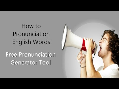 How to Pronunciation of English Words