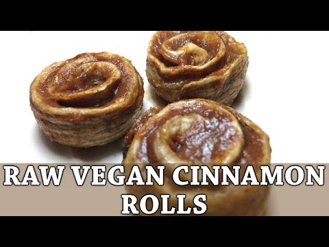 Raw Vegan Cinnamon Rolls/Buns