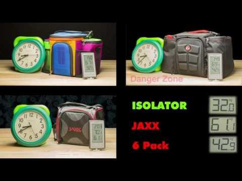 Isobag vs. JAXX vs 6 Packbags Temperature Comparison