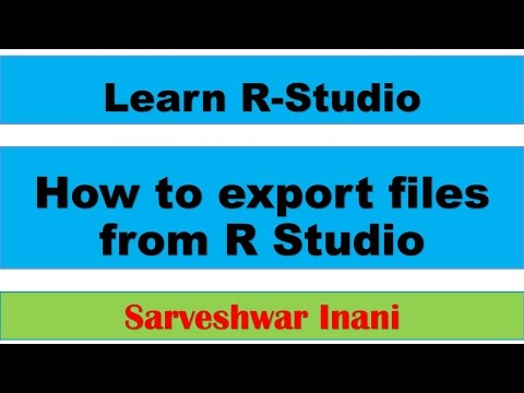 How to export files from R Studio