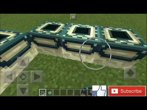 HOW TO MAKE ENDER PORTAL IN MINECRAFT POCKET EDITION NO ADDON NO MOD 100% WORKING