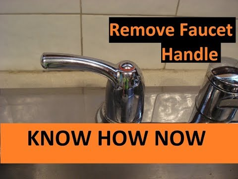 How to Remove a Faucet Handle