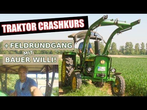 Traktor Fahren Chrashkurs und Feldrundgang mit Bauer Willi