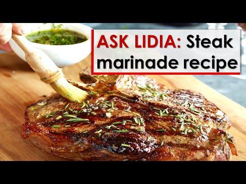 Ask Lidia: Steak Marinade Recipe