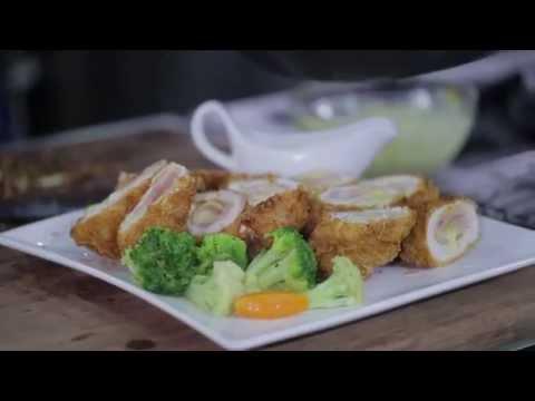 BAGUIO OIL COOKING SERIES WITH CHEF BOY LOGRO - Chicken Cordon Bleu In Tartar Sauce