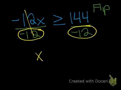 Alg-Solving Inequalities-Multiplication Division