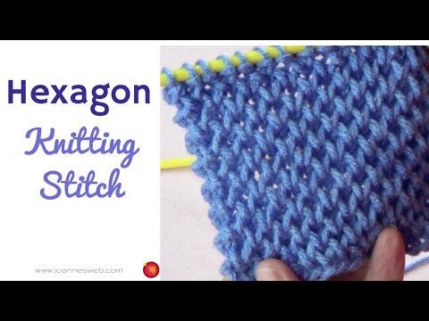 Knitting Hexagon Stitch - Geometric Knitted Pattern - Thick Knit Stitches
