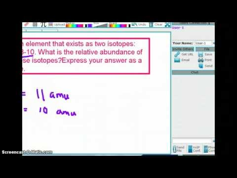 Calculating Isotopic Abundance