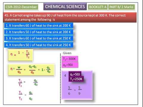Thermodynamics-CSIR UGC Chemical Sciences 2012