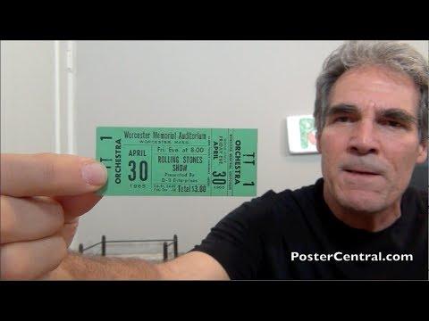 Rolling Stones 1965 Unused Concert Tickets – Pivotal Third U.S. Tour