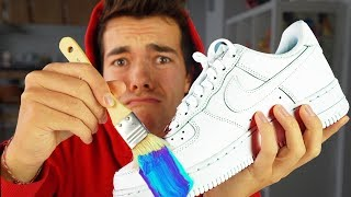 My First Custom Sneaker!! (GIVEAWAY) 👟 Nike Air Force 1's