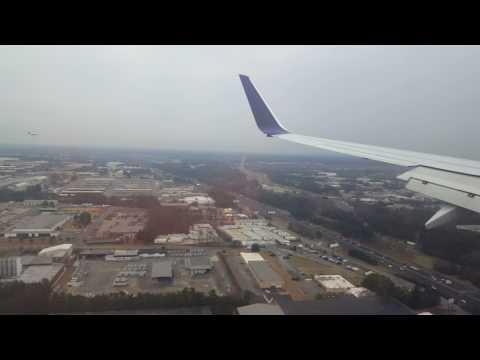 Landing in the Atlanta airport
