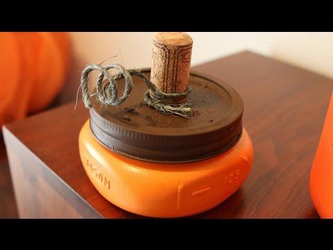 DIY Mason Jar Pumpkin Tutorial