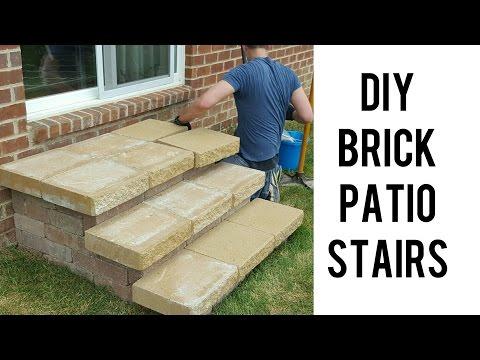DIY: Building Brick Patio Stairs