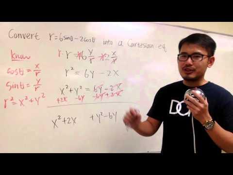 Convert a polar equation to a cartesian equation: circle!