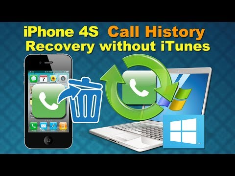 iPhone 4S Call History Recovery: How to Retrieve Call logs from iPhone 4S directly without Backup