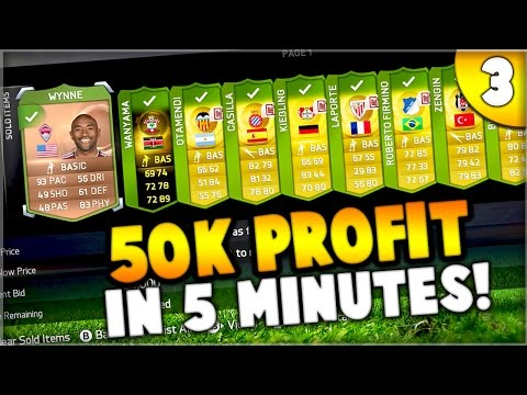 FIFA 15 - 50,000 COINS PROFIT IN 5 MINUTES!